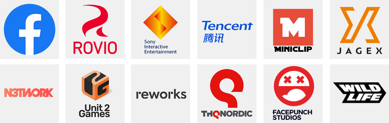 Department of Play games consultancy clients Facebook, Rovio, Sony, Tencent, Miniclip, THQ Nordic, Facepunch Studios, Wild Life, Tencent, Miniclip and Wild Life.